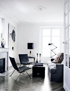 Ferm Living office Nice use of black and white! #interiordesign #homeinspiration #blackandwhite