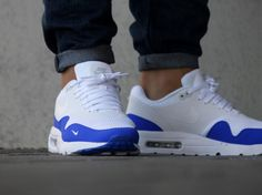 Basket Nike Air Max 1 Ultra Essential Mini Swoosh Racer Blue (2)