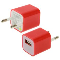 rouge iphone USB charger prise