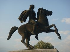 Statue of Alexander the Great, Thessaloniki, Greece.