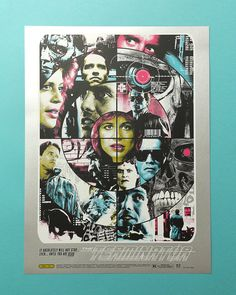 6 color screen printed poster by Electric Zombie on Stardream Silver