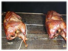 Do you want to learn how to make smoked pheasant? I have prepared a step-by-step detailed guide, with brining tips, cooking temperatures, smoking times and Smoked Pheasant Recipe, Pheasant Recipes, Pheasant Sausage Recipe, Traeger Recipes, Barbecue Recipes, Grilling Recipes, Jerky Recipes, Venison Recipes, Barbecue Smoker