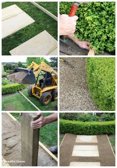 Beautiful House | How To Build A Simple Garden Path | http://beautifulhouse.com.au