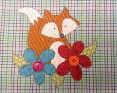 Rooster Applique PDF Pattern for Tea Towel by quiltdoodledesigns