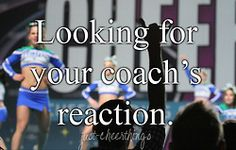 I remember doing this as a cheerleader, and I definitely had some crazy reactions as a coach haha!!!