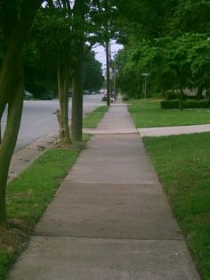 Walk down the sidewalk with me slowly until we get home.