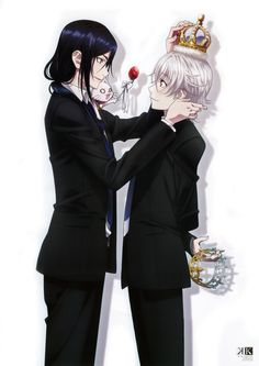 K Project official artwork Kuroh & Shiro & Neko ^-^