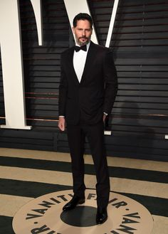 Joe Manganiello arrives at the Vanity Fair Oscar Party on Feb. 26, 2017, in Beverly Hills, Calif.