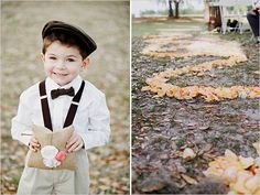 our ring bearers will be wearing suspenders and bowties all in different patterns and shades of grey and white