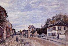 street scene in marly_Alfred Sisley