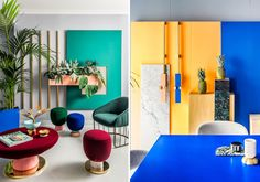 The Memphis-inspired office space of Valenica, Spain design studio Masquespacio. Photos via Masquespacio.
