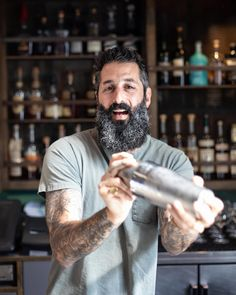 Read about @josh_the_bon_vivants from @trickdogbar in #sanfrancisco, now on #thepouringtales what a fantastic guy and what an awesome bar. #cheers #bartender #portrait #cool #new #usa #interview #trickdog #thecity #cocktail #cocktailbar Bartender, Cheers, Interview, Rings For Men, Cocktails, Guys, Cool Stuff, Portrait, Awesome