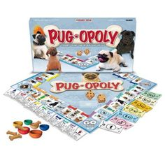 Pug-Opoly is a game of tail-wagging fun! Collect your favorite Pugs and Play Hard! Increase your rent by buying Toys for your dogs and upgrading them to Bi Amor Pug, Pug Art, Dog Games, Buy Toys, Pug Love, Shih Tzu, Beagle, Yorkie, Teacup Chihuahua