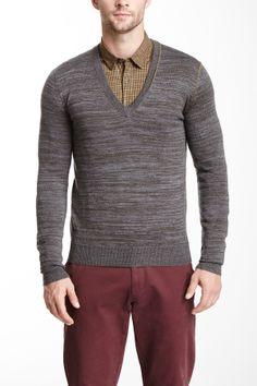 Wool Blend V-Neck Sweater on HauteLook