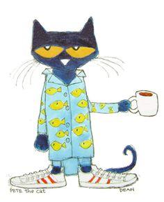 Pete the Cat | Cat's Pajamas  I love my morning coffee.