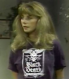 Bailey Quarters, wearing Johnny Fever's T-shirt. WKRP in Cincinnati.