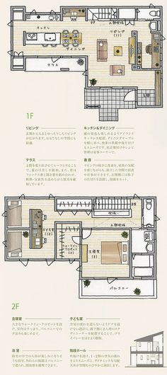 間取り Interior Design Presentation, Real Estate Ads, Compact House, Courtyard House, Happy House, Tiny House Living, House Layouts, Plan Design, House Floor Plans