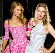 Paris & Nicky Hilton at the Moschino party at Art Basel Miami Beach