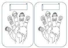 DECO PORTE MANTEAU coloriage main : 5 doigts, 5 continents