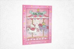"""Hello Kitty Art Activity Book: Carousel by Nakajima. $6.95. Hard cover. 24 sketchbook pages. 1 puzzle. Measures: 10.25"""" x .5"""" x 7.5"""". 16 assorted coloring pages. Rainy day quiet time fun begins with this exciting Hello Kitty art activity book. Your youngster shows off artistic talents with the large assortment of coloring pages and sketch book sheets all featuring Hello Kitty and friends enjoying favorite pastimes. Set includes a beautifully illustrated puzzle..."""