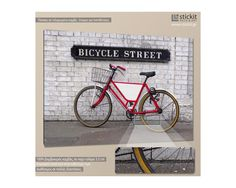 Bicycle Street, πίνακας σε καμβά,14,90 €,http://www.stickit.gr/index.php?id_product=19024&controller=product