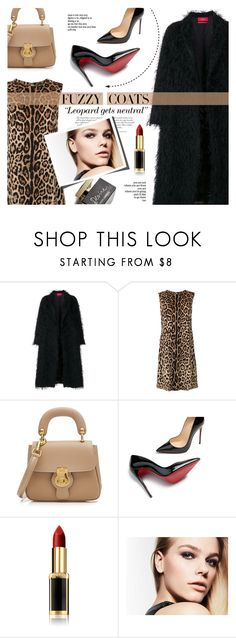 """""""Fuzzy coat"""" by edita1 ❤ liked on Polyvore featuring F.R.S For Restless Sleepers, Dolce&Gabbana, Burberry, D&G, Christian Louboutin, Reverie, L'Oréal Paris and fuzzycoats"""