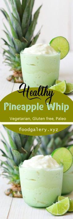 HEALTHY PINEAPPLE WHIP {PALEO} Spicy Recipes, Fruit Recipes, Veggie Recipes, Smoothie Recipes, Keto Recipes, Vegetarian Recipes, Cooking Recipes, Healthy Recipes, Cake Recipes