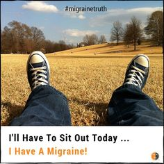 Are you having to sit out today?  #migrainetruth #migraines #spooniestrong