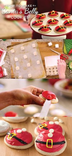 How to make Santa Belly Cookies