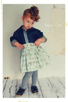 PREORDER The Butterfly Extra Full Skirt with Attached Sash from the Fleur + Dot Autumn Winter 12 Collection - Fleur and Dot
