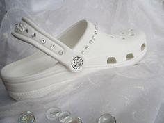 Swarovski Crystal Wedding White Croc Bridal by angelareesestudio, $81.99