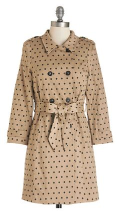 Fall Must-Have: Polka dot trench