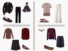 The Vivienne Files: Shopping with a Scarf: Navy and Burgundy