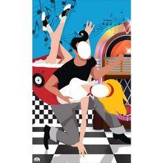 Rock N Roll Theme Standin Cardboard Cutout 190 x 115cms