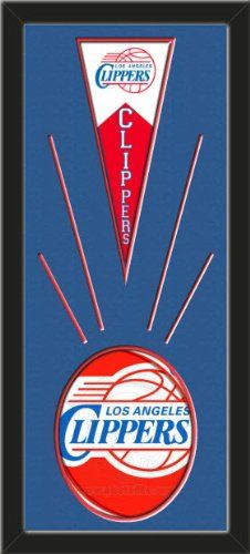 Los Angeles Clippers Wool Felt Mini Pennant & Los Angeles Clippers Team Logo Photo - Framed With Team Color Double Matting In A Quality Black Frame-Awesome & Beautiful-Must For A Championship Team Fan! Most NFL, MLB, NBA, Teams Available-Plz Mention In Gift Message If Need A different Team Art and More, Davenport, IA http://www.amazon.com/dp/B00I3APLZI/ref=cm_sw_r_pi_dp_XdtEub1B752HM