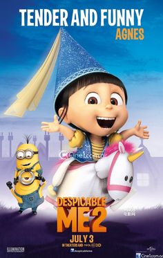 despicable me 2 movie agnes posters