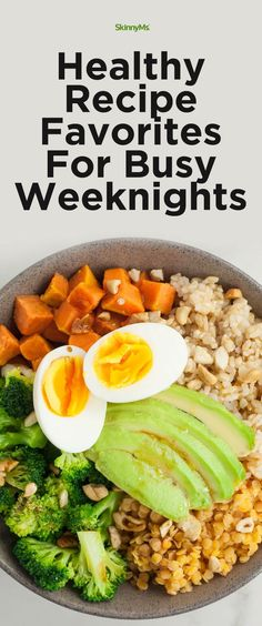 These Healthy Recipe Favorites For Busy Weeknights make meal planning easy and convenient. #healthyrecipes #busyweeknights #mealplanning
