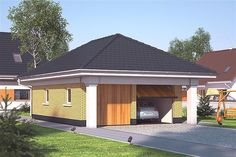 Projekt G2-4.12a Bungalow House Plans, Bungalow House Design, Country Modern Home, Facade House, Home Design Plans, Wood Construction, Planer, Sweet Home, Shed