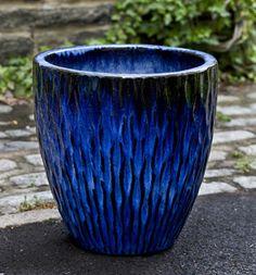 Large Ceramic Planter Blue Scenario Home G A R D E N 400 x 300