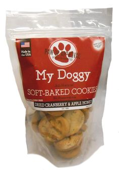 My Doggy Soft-Baked Cookies Dog Treats - 10 Ounces (Cranberry and Apple Honey) ** See this great image  (This is an amazon affiliate link. I may earn commission from it)