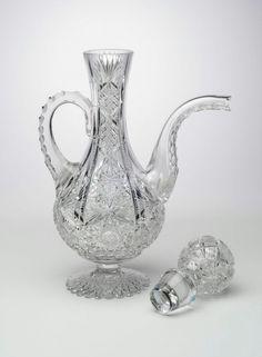 Egginton Glass Company, Cut glass wine decanter, 1890.