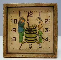 Vintage LUX Beer Drinking HAPPY DAYS Clock