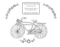 Embroidery pattern... cool bike