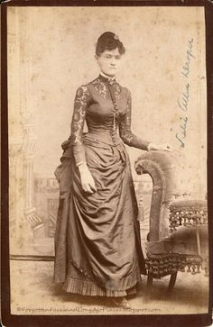 Fashionable Friday - Stylish 1880's Atlanta, GA Woman:  http://forgottenfacesandlongagoplaces.blogspot.com/2012/06/fashionable-friday-stylish-1880s.html