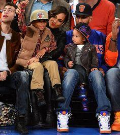 Alicia Keys w/her kids