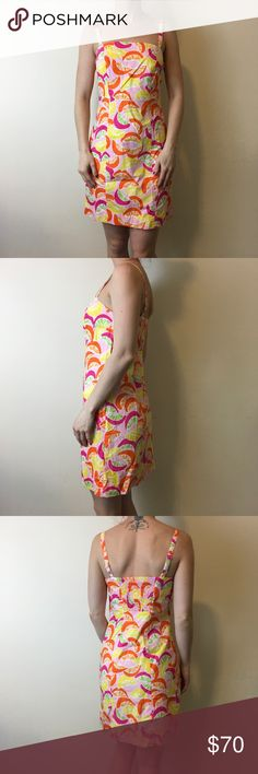 Lilly Pulitzer Orange Lemon Slice Sleeveless Dress Lilly Pulitzer Dress with orange a lemon slices with no sleeves and a zipper closure. In great condition! Size 0. Lilly Pulitzer Dresses