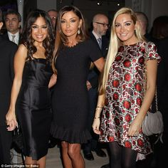 'First wives club': A group of glamorous women apparently acted as a smokescreen for businessmen and politicians to hide wealth. the champagne-loving socialite wife of Azerbaijan's President Ilham Aliyev, Mehriban Aliyeva, pictured centre with her daughters either side, is named. Daughters Leyla Aliyeva, left, and Arzu Aliyeva, right also controlled a Panama-incorporated company according to the documents