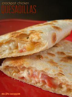 Crockpot Chicken Quesadillas