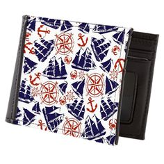 Sailing the Seas Mens Wallet