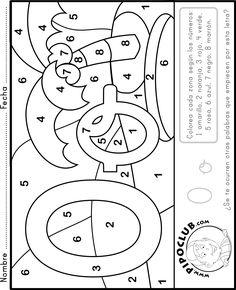 O DE OASIS - Colorea con números #números #preescolar #infantil #niños #colorear #leer